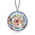 925Sterling Silver Jewelry Romantic Rose Flower Pendant Woman Necklace