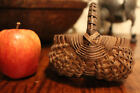 EARLY MINIATURE BUTTOCKS BASKET - PERFECT - NICE COUNTRY PRIMITIVE PATINA