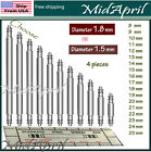 Bar Pins Spring Bar Pins Watchband Watch Stainless Steel  For Watch Band  4 PCS