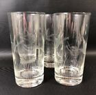 Set Of 4 Imperial Glass Highball Glasses Etched Flying Ducks And Cattails 9O
