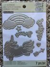 Recollections Cut And Emboss 542689 Unicorn 7 Cutting Dies NEW