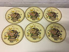 Vintage Clarice Cliff Newport Pottery Ophelia Pattern Set of 6 Plates 8 1/8