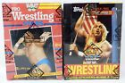 1985 AND 1987 TOPPS WWF WRESTLING WAX BOX LOT OF TWO (2) BBCE NON X-OUT HOGAN