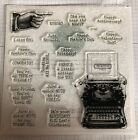 Close To My Heart Typed Note Stamp Set New