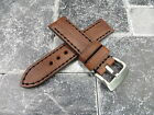 24mm NEW COW LEATHER STRAP Brown Watch Band Black Stitch PANERAI 24 mm X1 R