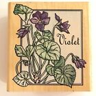 RUBBER STAMPEDE VIOLET Flowers Rubber Stamp
