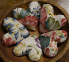 Primitive Valentine Hearts 5 Bowl Fillers Cupboard Tucks Floral Cotton Gold
