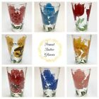 *Rare* Vintage Peanut Butter Glass Variety of Flowers Glasses *Set* of 8