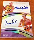 2016 17 IMMACULATE KAREEM ABDUL-JABBAR JERRY WEST DUAL AUTO 49 LAKERS
