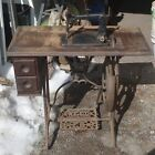 1875 Weed Treadle Sewing Machine  with walnut cabinet cast-iron stand
