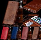 Leather Flip Wallet Phone Case Cover Stand for iPhone 7 6 6S Plus Samsung NoteRF