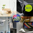 Clip-On USB Dimmable 600LX Rechargeable Touch Sensor 14 LEDs Reading Light RF
