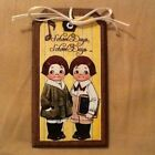 5 Wooden SCHOOL DAYS Ornaments/HangTags/ORNIES HANDCRAFTED TEACHER GIFT Set01