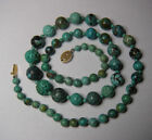 Chinese Turquoise Bead Necklace Graduated 24