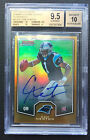 🏈 Cam Newton BGS 9.5 2011 Bowman Chrome Preview Topps Gold Refractor Auto RC