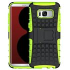 Samsung Galaxy S8 Phone Case Shockproof Protective Heavy Duty Cover Black Green