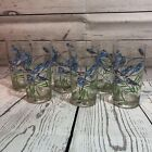 Set Of 6 Signed Cora Drinking Glasses Tall Tumblers Blue Birds