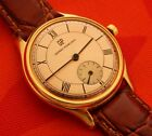 VINTAGE GIRARD PERREGAUX COPPER DIAL LARGE 36.2MM GOLD PLATED CASE MANUAL WIND