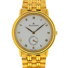 Blancpain 4795 18k Yellow Gold Automatic Watch with Date White Dial