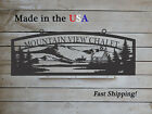 Large Farm Entrance Sign with Log Cabin Mountains Deer Any Name S1294