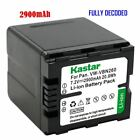 VW VBN260 Battery for Panasonic HC X800 X800GK X900 X900GK X900K X900M X900MGK