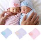 Cute Newborn Baby Infant Girl Toddler Comfy Bowknot Hospital Cap Warm Beanie Hat