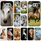 Lavaza Watercolor horse Running Horses Hard Case Transparent for Samsung Galaxy