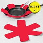PADDED POT AND PAN PROTECTORS SET OF 4 RED