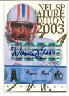 2003 UD SP Signature Edition WARREN MOON Auto Autograph Oilers