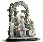 Lladro 1759 Tea in the garden Woman Lady Flowers 01001759 - New