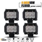 Fit Jeep CJ YJ TJ 1944 2006 Offroad 4Pcs 4inch LED Work Light Driving Fog Lights