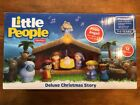 Fisher Price Little People Deluxe Christmas Story Nativity Set 12 Figures Lights