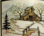 Art Impressions Fir Tree Water Color U get photo 2 RETIRED LK RUBBER STAMPS