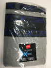 Hanes X TEMP Big and Tall Mens Underwear Cotton BRIEFS Combo 3 Pack NIP Blk Gry