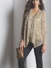 Midnight Velvet Gold Metallic Shimmer Duster Cardigan and Tank Top Twin set S M