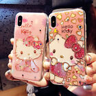 Cute Hello Kitty Bling Diamond Glitter Soft Case Cover for iPhone XS Max XR 7 8+