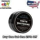 Natural Teeth Whitening Toothpaste Tooth Powder Coconut Activated Charcoal KIT