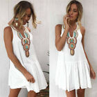 USA Summer Women Sleeveless V Neck Evening Party Cocktail Beach Short Mini Dress