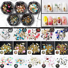 3D DIY Nail Art Lady Crystal Decoration Rhinestones Glitter Diamonds Ball Box
