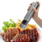 Electric Automatic Stainless Steel Salt Pepper Spice Mill Shaker Grinder Set US