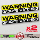 WARNING DADDY car sticker decal jdm bumper humor bike window truck 4x4 JEEP FAST