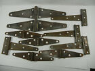 Lot of 10 Barn Door T Strap Hinges Old Antique Aged Weathered Hinges Rusted