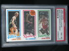 1980 Topps Larry Bird HOF Rookie RC - Bill Cartwright - John Drew PSA 8