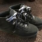 US Polo Assn Mens High Top Sneakers Athletic Shoes Black Gray Size 9 1 2