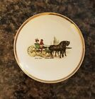Porcelain/China Butter Pat Dish w/ Gold Trim George Stubbs