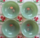 4 NEW OLD STOCK Fire King JANE RAY JADEITE 6