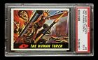 MARS ATTACKS *THE HUMAN TORCH* NO QUALIFIERS 1962 TOPPS PSA 5 EX NO. 9