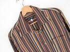 RP2329 ARMANI JEANS SHIRT TOP ORIGINAL PREMIUM TEXTURED STRIPED VINTAGE size L