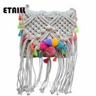 Ethnic Hippie Hobo Corss Body Bohemian Beach Bag Straw Women Crochet Fringed ...