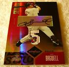 JEFF BAGWELL 2004 LEAF LIMITED PRIME 5 JERSEY LOGO TAG PATCH AUTO SERIAL #1 1